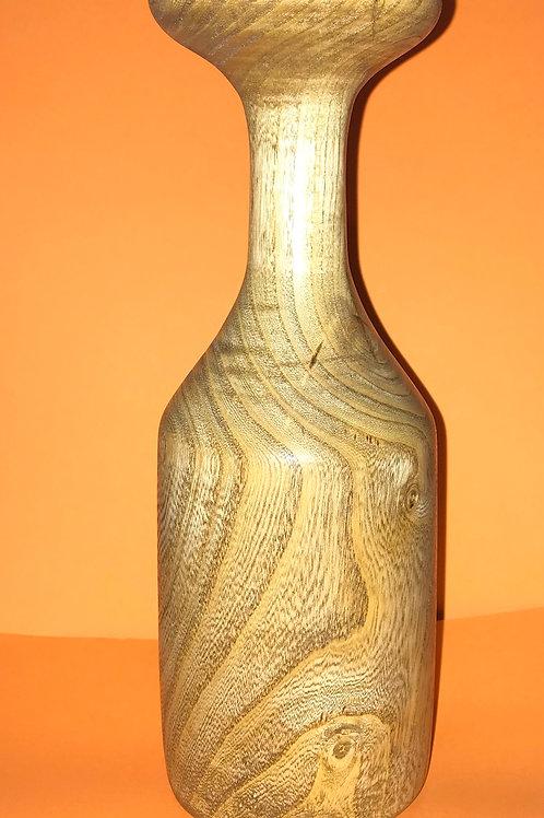 "Handmade Oak Vase 9.25"" X 3.25"""