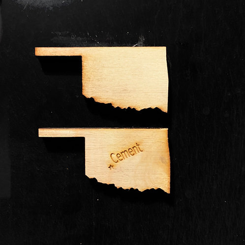 Oklahoma Wooden Magnets