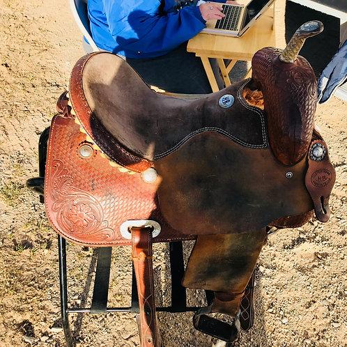"HR Saddle Custom Made 15"" Barrel Saddle"