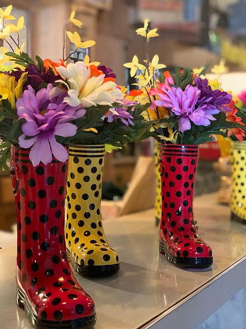 Rain Boot Flower Vase
