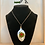 Thumbnail: Vintage Spoon Necklace With Red & Green Broach