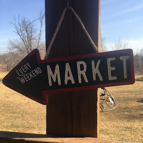 Wooden Arrow Sign- MARKET