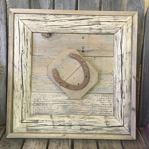 Handcrafted Rustic Frame w/Horseshoe