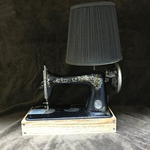 Singer Sewing Machine Repurposed Lamp