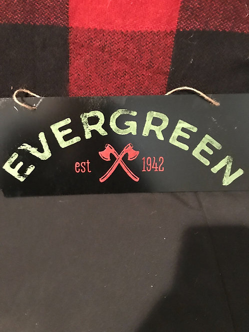 Chalkboard Evergreen Sign