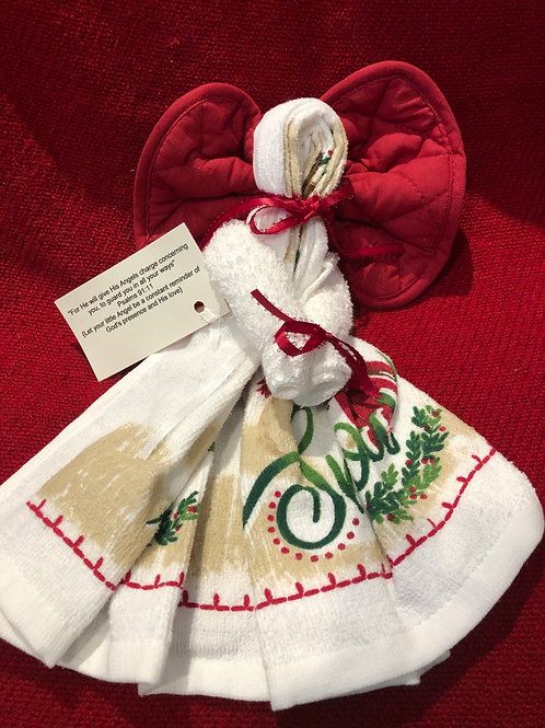 Angel Kitchen Towel for Christmas