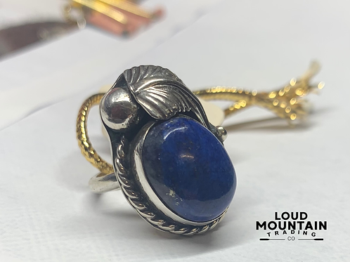 Lapis Stone Ring w/ Sterling Silver - Size 5.5