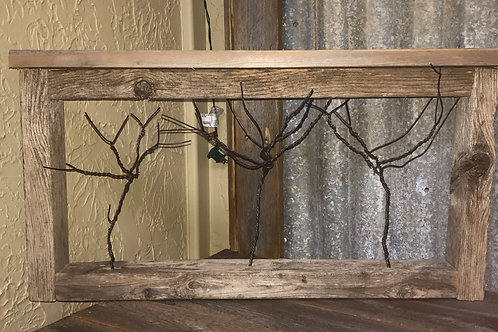 Bailing Wire Trees In Wooden Frame