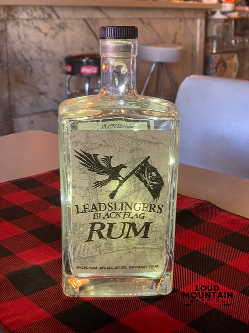 Cordless Bottle Lamp - Leadslingers Black Flag Rum