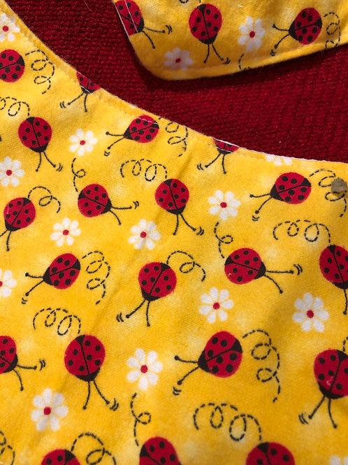 Ladybug Baby Bib With Burp Towel Set