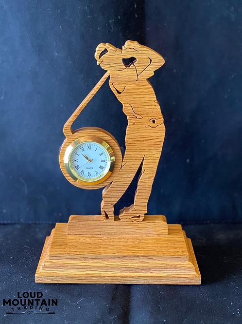 Handmade Wooden Golpher Clock