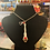 Thumbnail: Vintage Silverware Necklace w/ Red Beads & Heart Charm