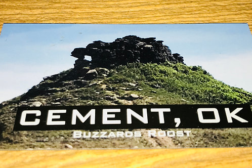 Buzzards Roost, Cement, Oklahoma Magnet