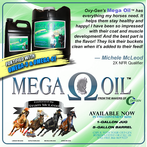 Mega Oil for Horses / Michele McLeod's