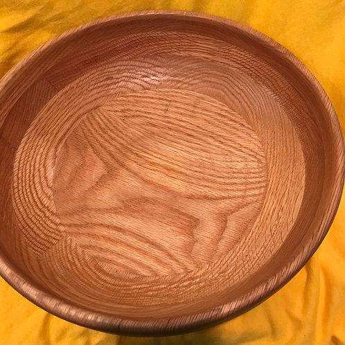 "Handmade Oak And Pine Wooden Bowl 3"" X 11.75"""