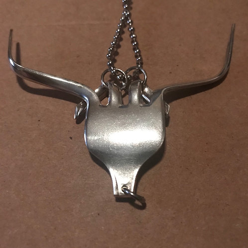 Vintage Silverware Longhorn Necklace