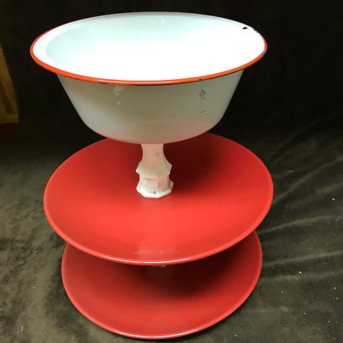 Three Tier Red Platter
