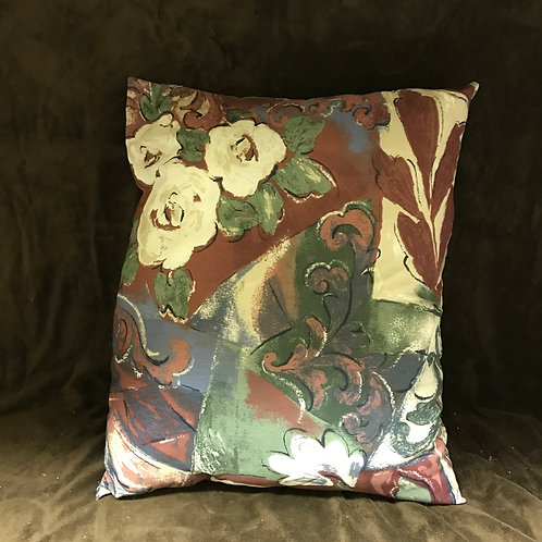 Handmade Multi-Colored Large Pillow