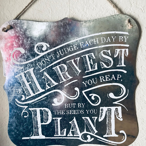 Harvest Tin Sign