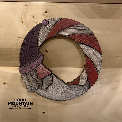 Wooden Santa Wreath