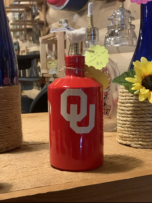OU Sooner Tiki torch