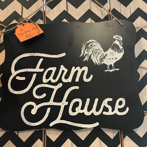 Chalkboard Farmhouse Sign