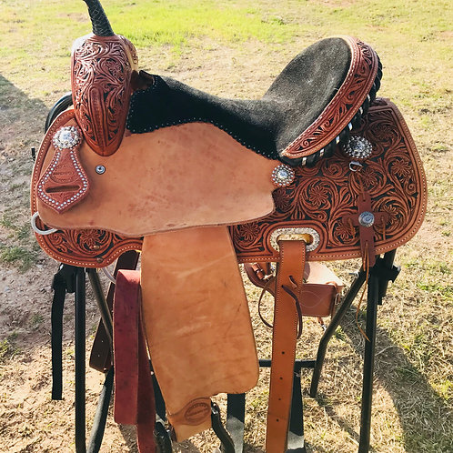 "14.5"" Jack Antle Brand Barrel Saddle, Headstall, & Breastcollar Set"