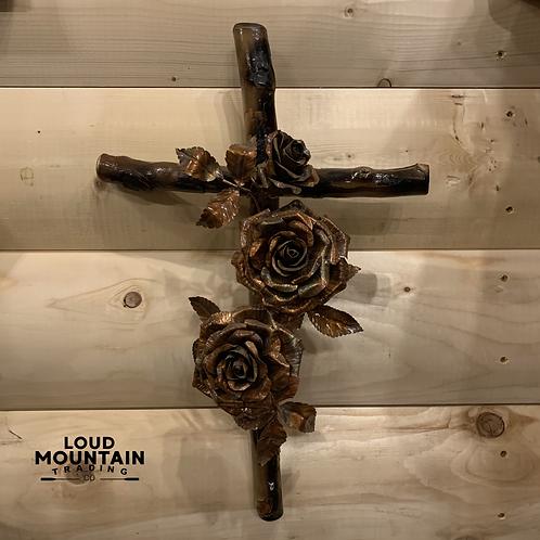 Copper Rose Cross