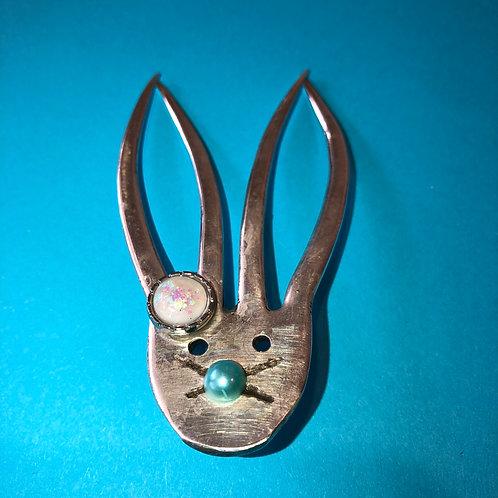 Vintage Silverware Bunny Broach