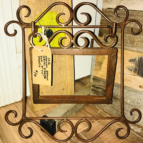 Brown Metal Hanging Photo Frame