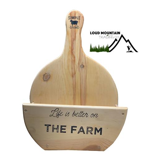 Handmade Pine Wooden Paper Plate Holder