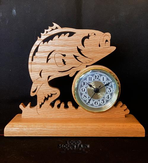 Wooden Bass Clock