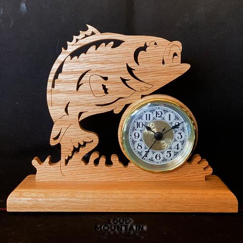 Handmade Wooden Bass Clock