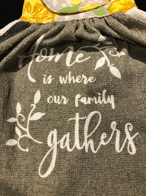 """Home"" Kitchen Tea Towel With Snap Closure"
