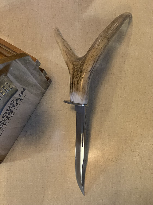 Diamond Back Knife w/ Whitetail Antler Handle