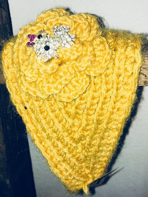 Knitted Yellow Headband