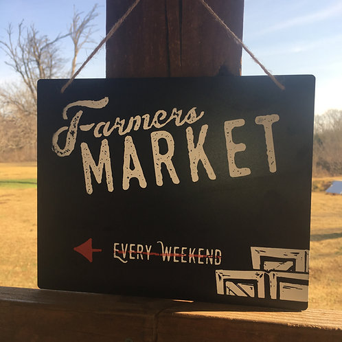 Chalkboard Farmers Market Sign