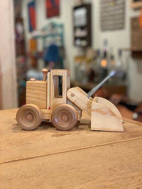 Wooden Front End Loader Toy