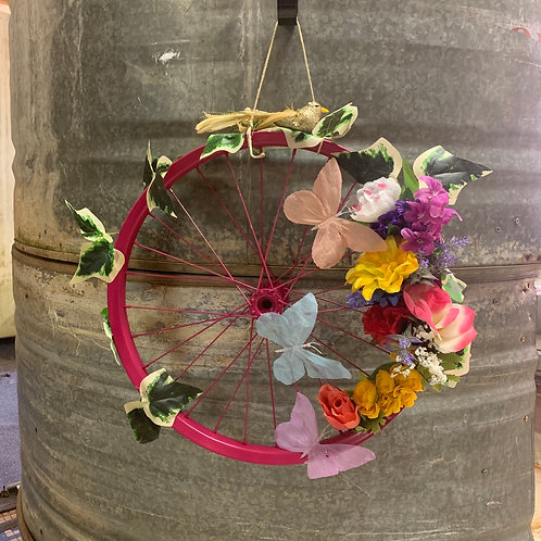 Antique Bicycle Wheel Wreaths