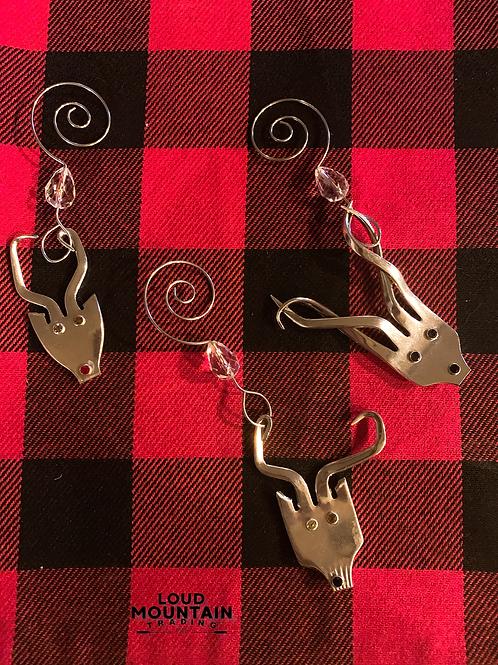 Vintage Silverware Reindeer Ornament