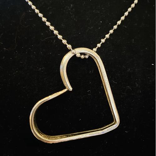 """23"""" Vintage Silverware Necklace In Heart Shape"""