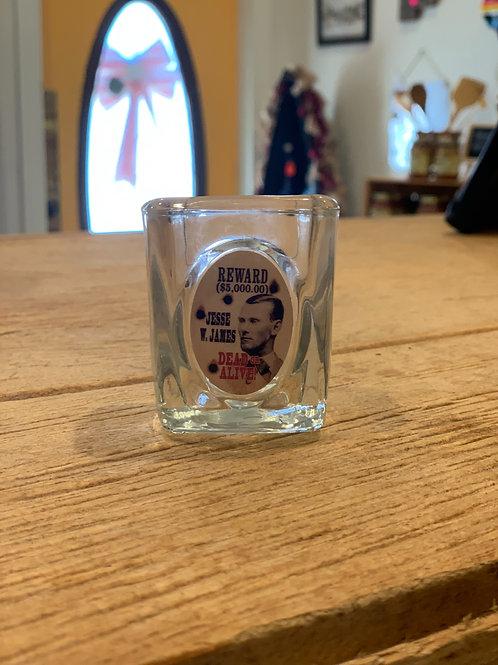 Jesse James Shot Glass