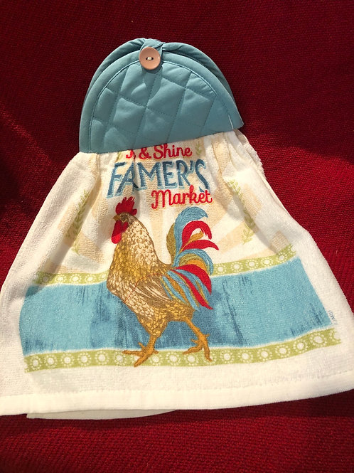 Farmers Market Kitchen Towel With Potholder