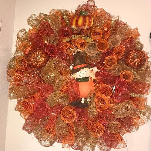 Gold and Orange Fall Wreath