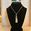 Thumbnail: Vintage Silverware Spoon Necklace With Moon Charm