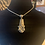 Thumbnail: Vintage Silverware Pendant With Hibiscus Flower On Silver Chain Necklace