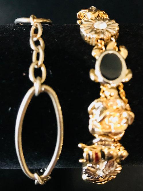 Two Gold Trinket Bracelets