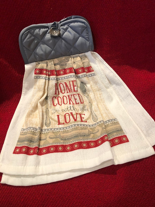 Home Cooked With Love Kitchen Towel With Potholder