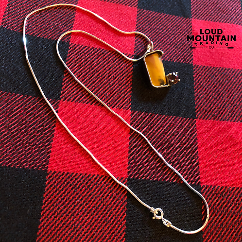 Mookite Stone Necklace w/ Sterling Silver Chain