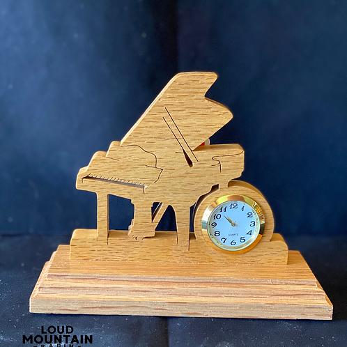 Handmade Wooden Piano Clock